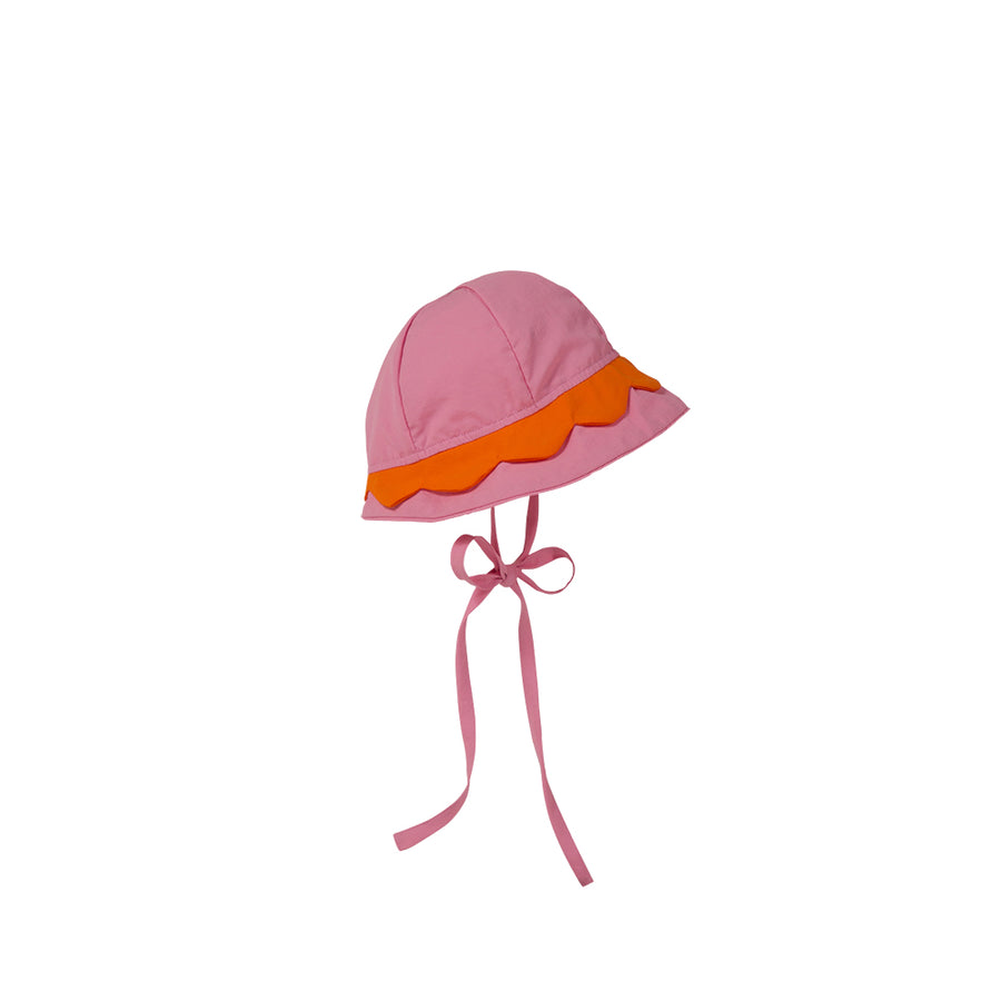 Hollingsworth Hat - Hamptons Hot Pink with Tega Cay Tangerine