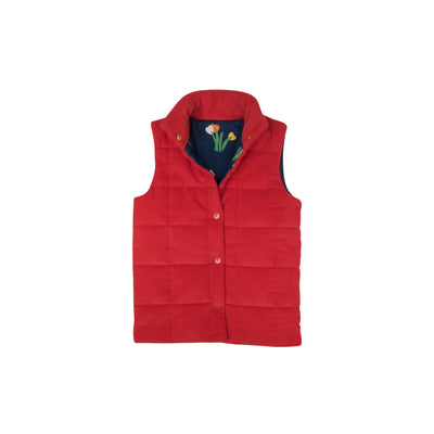 Holly Vaughn Vest (Corduroy) - Richmond Red with Love Blooms Lining