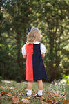 Kennedy Colorblock Dress - Old Dominion Orange with Nantucket Navy