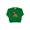 Isaac's Intarsia Sweater - Kiawah Kelly Green with Dog