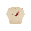 Isaac's Intarsia Sweater - Palmetto Pearl with Pheasant Applique