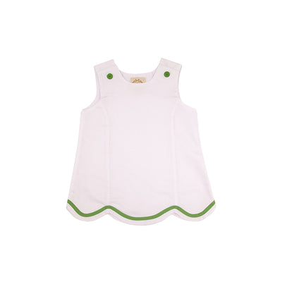 J.J. Jumper - Worth Avenue White Pique with Grenada Green