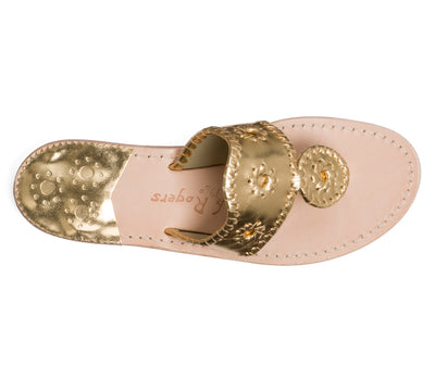 Jack Rogers Hamptons Sandal (Ladies) - Gold
