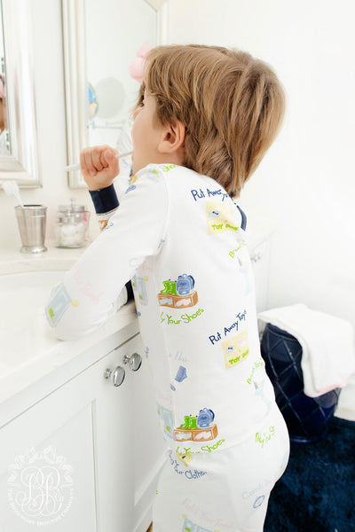 Knox's Night Night - Mastering Manners with Nantucket Navy