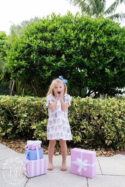 Holly Day Dress - We Pink Every Day is a Gift with Buckhead Blue