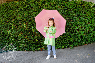 Liquid Sunshine Slicker - Iveben Spotted with Hamptons Hot Pink