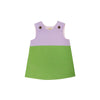 Katie Anne Colorblock Jumper (Corduroy) - Lauderdale Lavender with Grenada Green