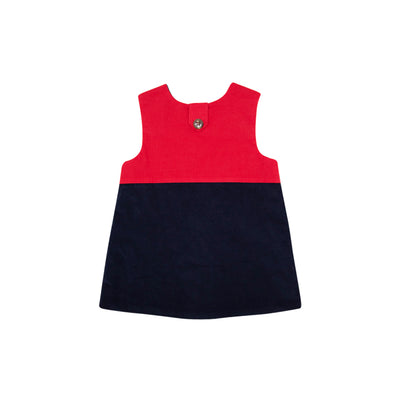 Katie Anne Colorblock Jumper (Corduroy) - Richmond Red & Nantucket Navy