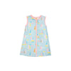 Katie Cover-Up - Sandyport Sailboats Blue with Sandpearl Pink