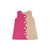 Kennedy Colorblock Dress - Hamptons Hot Pink and Kenneland Khaki Corduroy with Plandome Plaid Lining