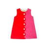 Kennedy Colorblock Dress - Hamptons Hot Pink and Old Dominion Orange with Highland Park Peanut