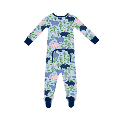 Knox's Night Night - Bal Harbour Hippo with Nantucket Navy (unisex)