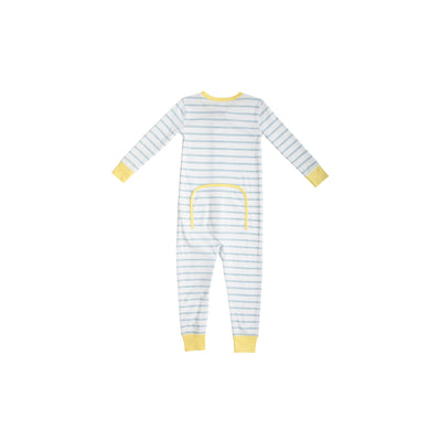 Knox's Night Night (Unisex) - Buckhead Blue Stripe with Lake Worth Yellow