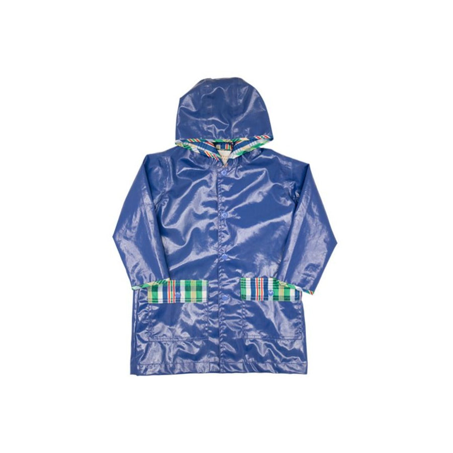 Liquid Sunshine Slicker - Rockefeller Royal with Primary School Plaid