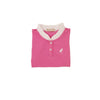 Little Miss Prim & Proper Polo - Hamptons Hot Pink with Worth Avenue White