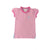Little Miss Prim and Proper Polo Shirt - Plantation Pink with Palm Beach Pink Ruffle