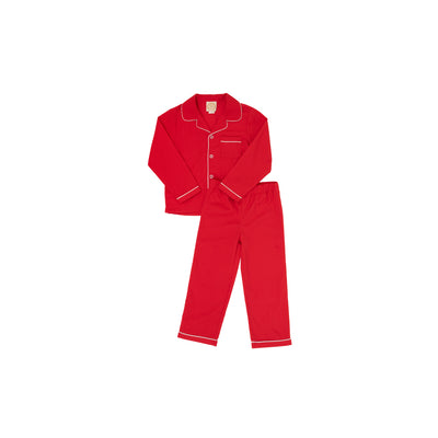 Lock's Little Man Set - Richmond Red with Worth Avenue White