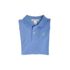 Long Sleeve Prim & Proper Polo - Barbados Blue with Grenada Green Stork