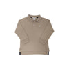 Long Sleeve Prim & Proper Polo - Keeneland Khaki with Multicolor Stork