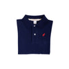 Long Sleeve Prim & Proper Polo - Nantucket Navy with Richmond Red Stork