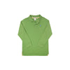 Long Sleeve Prim & Proper Polo - Grenada Green with Park City Periwinkle Stork