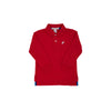 Long Sleeve Prim & Proper Polo - Richmond Red with Worth Avenue White Stork