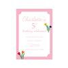 Birthday Invitations - Love Blooms Girl