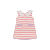 Luanne's Lunch Dress - Sandpearl Pink Stripe with Lauderdale Lavender