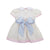 MacClare Cap Sleeve Dress - Palmetto Pearl with Buckhead Blue Smocking