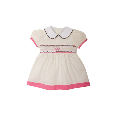 MacClare Cap Sleeve Dress - Palmetto Pearl with Hamptons Hot Pink