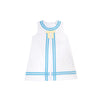 Madge Main Sail Dress - Worth Avenue White with Brookline Blue & Bellport Butter Yellow