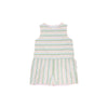 Mae Ryan Romper - Rainbow Row Stripe with Palm Beach Pink