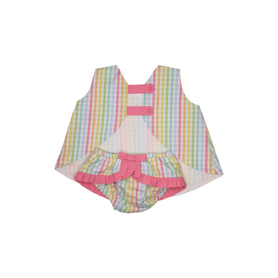 Mary Todd Tab Set - Old Preston Plaid with Hamptons Hot Pink