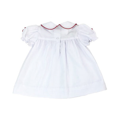 McFarland Frock - Worth Avenue White with Red