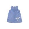McFerran Frock - Park City Periwinkle with Sailboat Appliqué