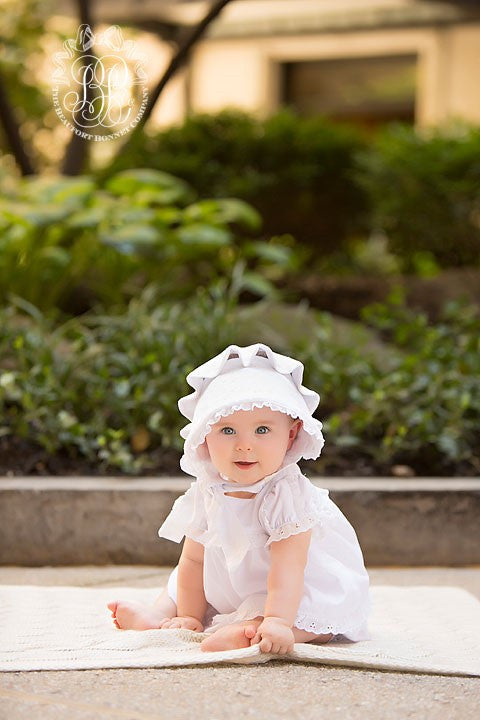 Flossy Frock Set - Worth Avenue White with Eyelet