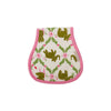 Oopsie Daisy Burp Cloth - Highland Park Peanut with Hamptons Hot Pink Trim