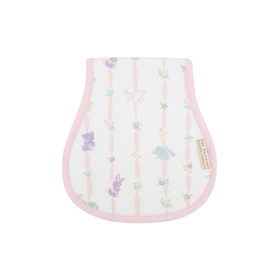 Oopsie Daisy Burp Cloth - Rockabye Ribbons with Palm Beach Pink