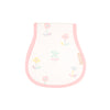 Oopsie Daisy Burp Cloth - Sweet Pea Scribbles with Sandpearl Pink