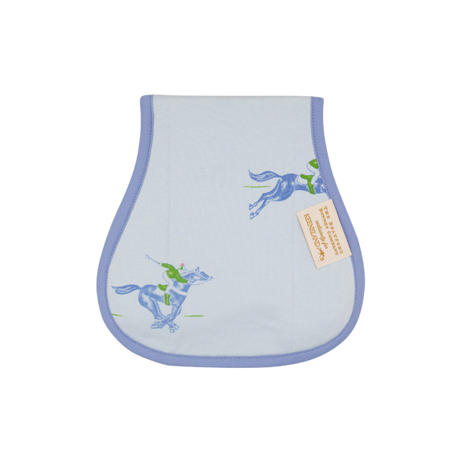 Oopsie Daisy Burp Cloth - Win, Place, and Showing off with Park City Periwinkle
