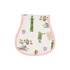 Oopsie Daisy Burp Cloth - Custom Keeneland Print with Plantation Pink
