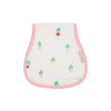 Oopsie Daisy Burp Cloth - Travilah Tulip with Sandpearl Pink