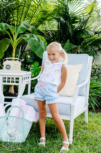 Paige's Playful Polo - Sandyport Sailboats with Sandpearl Pink