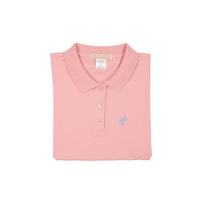Paige's Polo - Sandpearl Pink with Brookline Blue Stork