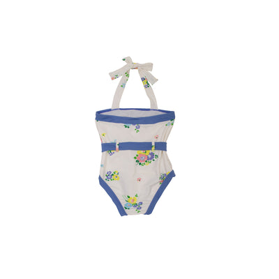 Palm Beach Bathing Suit - Biltmore Bouquet Blues with Park City Periwinkle