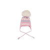 Parrish Pom Pom Hat - Palm Beach Pink with Buckhead Blue and Worth Avenue White Hearts