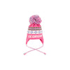 Parrish Pom Pom Hat - Hamptons Hot Pink with Multicolor Polka Dots