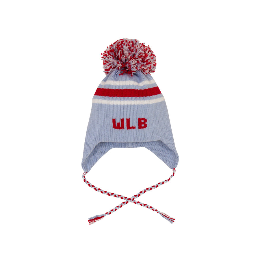 Parrish Pom Pom Hat - Buckhead Blue with Richmond Red and Worth Avenue  White ... 2c6f30c0a57d