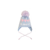 Parrish Pom Pom Hat - Buckhead Bue with Palm Beach Pink Hearts
