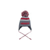 Parrish Pom Pom Hat - Greenwich Gray with Richmond Red and Worth Ave. White